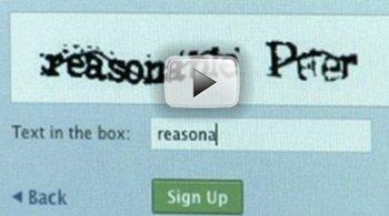 Спамерам придется столкнуться с технологией Video CAPTCHA